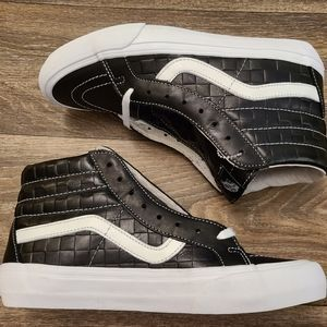 Vans Vault Sk8-Hi Leather Emb. Checkerboard 8.5